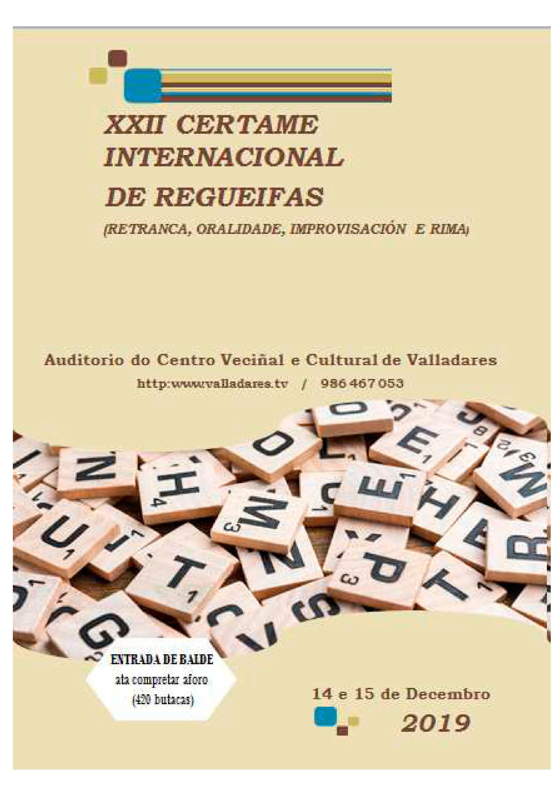 XXII Certame Internacional de Regueifas en Vigo